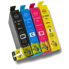 A set of pre-filled Epson Compatible T1636 dye sublimation ink cartridges.