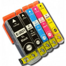 A set of pre-filled Epson Compatible T2636 dye sublimation ink cartridges.