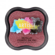 Artiste - Pigment Mini Ink Pad - Metallic Berry Red.