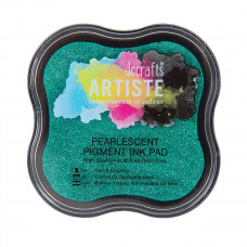 Artiste - Pigment Mini Ink Pad - Pearlescent Mantis Green.