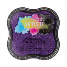 Artiste - Pigment Mini Ink Pad - Pearlescent Violet.