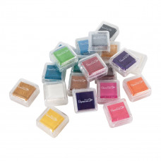 Mini Ink Pads Dye (20pk) - Assorted Colours