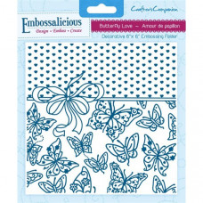 Embossalicious  6 x 6'' Embossing Folder - Butterfly Love