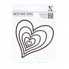 Xcut Nesting Dies - Homespun Heart - 5pcs.