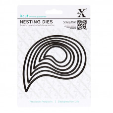 Xcut Nesting Dies - Paisley Leaves - 6pcs
