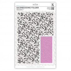 Xcut  A4 Embossing Folder - Butterfly Pattern