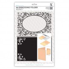 Xcut A4 Embossing Folder - Poinsettia Frame.