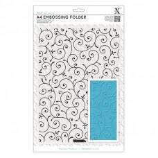 Xcut  A4 Embossing Folder - Delicate Flourishes