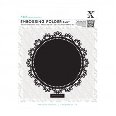 Xcut  6 x 6'' Embossing Folder - Lace Circle