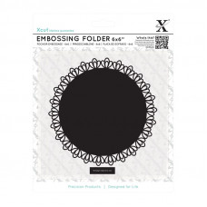 Xcut 6 x 6'' Embossing Folder - Lace Frame Square.