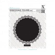Xcut  6 x 6'' Embossing Folder - Lace Frame Square