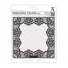 Xcut  6 x 6'' Embossing Folder - Lace Frame Delicate