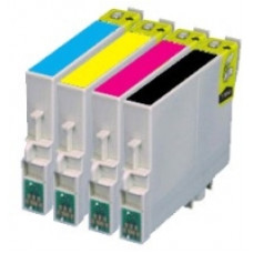 A set of pre-filled Epson Compatible T0615 dye sublimation ink cartridges.
