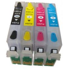 Epson Compatible T1285 Empty Refillable Cartridge Set.
