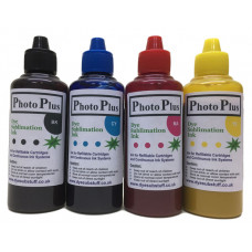 400ml Ricoh Compatible Dye Sublimation Ink, 100ml each of Bk,C,M,Y - PhotoPlus Brand.