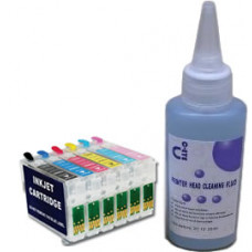 Sublimation Cleaning Cartridge Kit for Printer Models using Epson T0797 Cartridges.