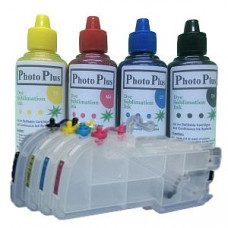 Brother Compatible Extended LC123 Dye Sublimation Refillable Cartridge Kit & 400ml Ink.