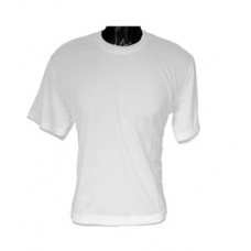 T Shirt - Small Adult Size White Cotton/Polyester T Shirt for Dye Sublimation Printing.