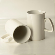 10oz White Mug with Curled Top - Box of 36pcs