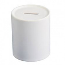 White Dye Sublimation Coated Money Box, 7.8 x 9.5cm.