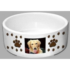 White Printable Dye Sublimation Dog Bowl for Personalising Pet Bowls.