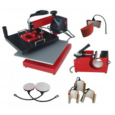"Heat Press - DS-DCH-500 - 38cm x 38cm (15"" x 15"") Swing Away, 5 in 1 Combo Multi Press"