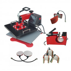 "Heat Press - DS-ECH-500 - 38cm x 30cm (15"" x 12"") Swing Away, 5 in 1 Combo Multi Press"