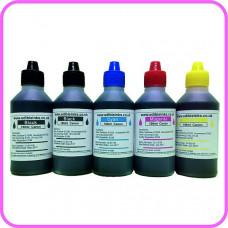 Edible Ink for Canon Printers - 5 x 100ml bottles B/B/C/M/Y