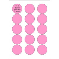 Printable Edible  Icing Sheet - 10 Sheets A4, 15 x 50mm Circles