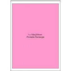 Printable Edible  Icing Sheet - 10 Sheets A4, 1 x Rectangle