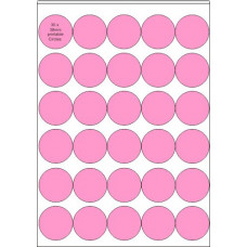 Printable Edible  Icing Sheet - 24 Sheets A4, 30 x 38mm Circles