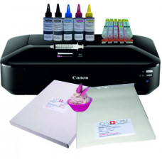 Edible A3 Printer Bundle, Canon IX6850, with Edible Ink Accessory Pack, Icing Sheets & Wafer Paper.