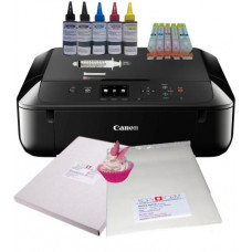 Edible A4 Printer Bundle, Canon MG5750, with Edible Ink Accessory Pack, Icing Sheets & Wafer Paper.