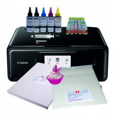 Edible A4 Printer Bundle, Canon TS5050/TS5051, with Edible Ink Accessory Pack, Icing Sheets & Wafer Paper.