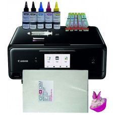 Edible A4 Multi-Function Printer Bundle, TS5050/TS5051, with Edible Ink Accessory Pack & Wafer Paper.