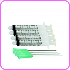 Pack of 4 x 10ml syringes and Large needles