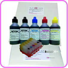 Edible Printer Refillable Cartridge Accessory Kit for Canon PGI-5 with Icing & Wafer Papers.