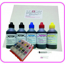 Edible Printer Refillable Cartridge Accessory Kit for Canon PGI-550 with Icing Sheets.