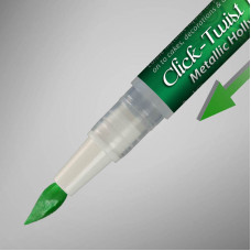 The Click-Twist Food Paint Brush - Metallic Holly Green - 2ml