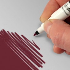 Food Art Pen - Burgundy, with a fine and a broad nib. - 2 pens in 1.