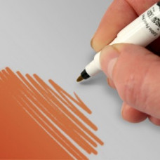 Food Art Pen - Peach, with a fine and a broad nib. - 2 pens in 1.