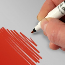 Food Art Pen - Red, with a fine and a broad nib. - 2 pens in 1.