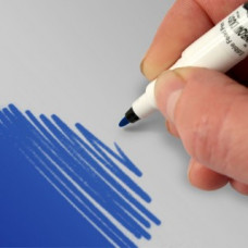 Food Art Pen - Royal Blue, with a fine and a broad nib. - 2 pens in 1.