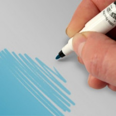 Food Art Pen - Sky Blue, with a fine and a broad nib. - 2 pens in 1.