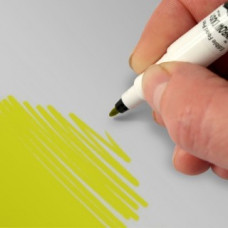 Food Art Pen - Yellow, with a fine and a broad nib. - 2 pens in 1.