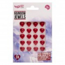 Rainbow Jewels - Red Shimmer Hearts, 24 pcs Pack.