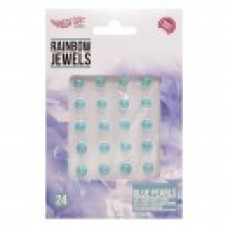 Rainbow Jewels - Blue Pearls, 24 pcs Pack.