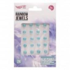 Rainbow Jewels - Blue Pearls, 24 pcs Pack.