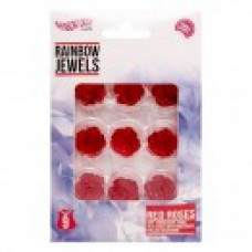 Rainbow Jewels - Medium Red Roses, 9 pcs Pack.