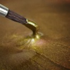 Metallic Food Paint - Metallic Light Gold in a 25ml Pot.